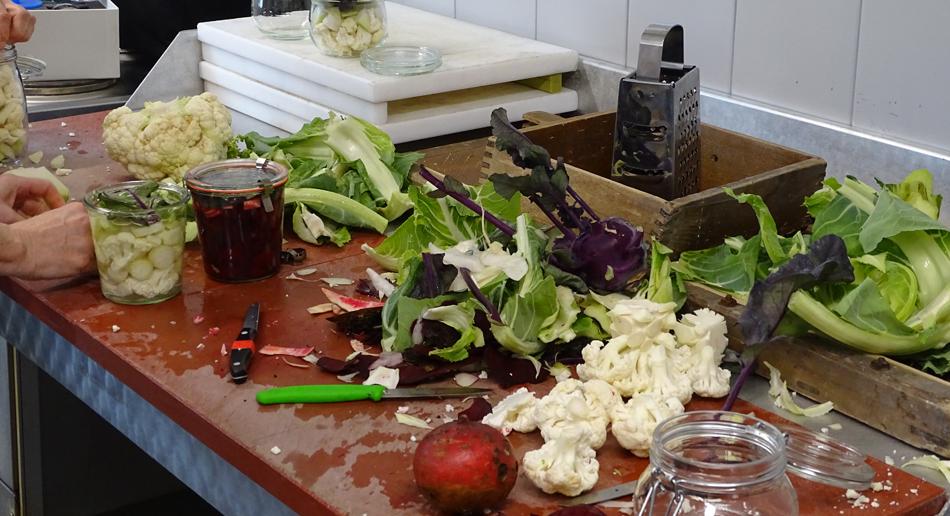 Fermentation mit frischem Gemüse