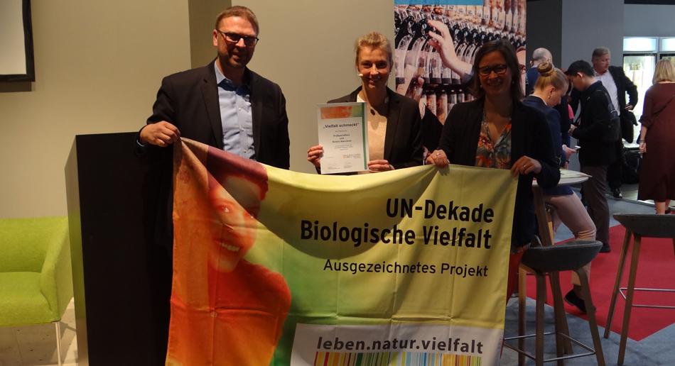 Auszeichnung durch die UN Dekade biologische Vielfalt