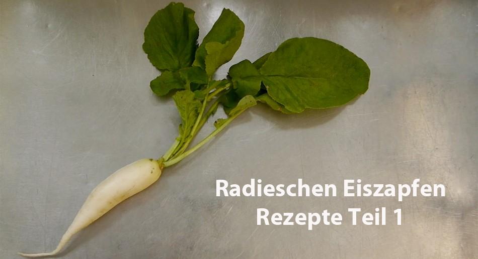 Rezepten mit Eiszapfen-Radieschen